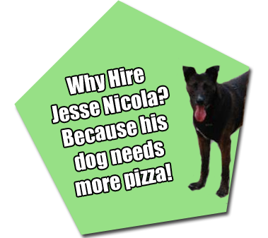 Jesse Nicolas Dog Sable NEEDS pizza!